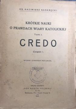 Krótkie nauki o prawdach wiary katolickiej Tom I, 1929 r.