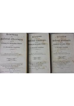 Handbuch der Pastoraltheologie Dritter Band I, II, III - 1828 r.