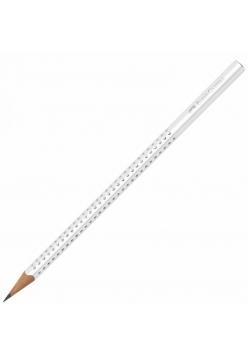 Ołówek Sparkle biały (12szt) FABER CASTELL