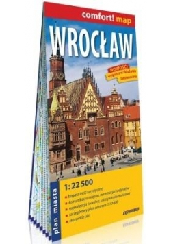 Comfort! map Wrocław 1:22 500 plan miasta w.2018