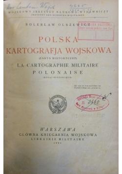 Polska kartografja wojskowa, 1921r.