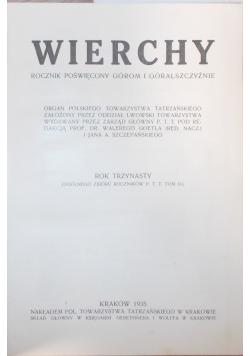 Wierchy, rocznik trzynasty, 1935 r