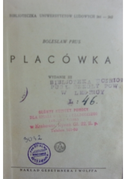 Placówka powieść, 1939r.