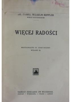 Więcej radości, wydanie III. 1932 r.