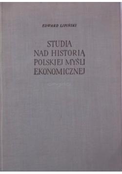 Studia nad historią polskiej myśli ekonomicznej