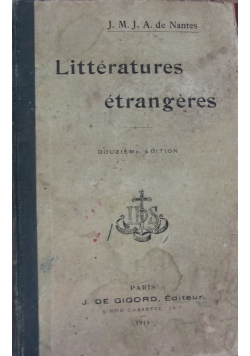 Litteratures etrangeres, 1919 r.