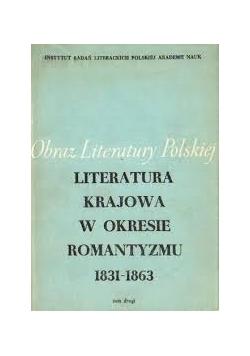 Literatura krajowa w okresie romantyzmu 1831-1863, tom II