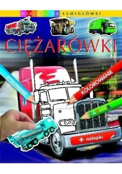 Naklejkowe łamigłówki - Ciężarówki