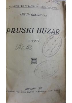 Pruski huzar, 1925 r.