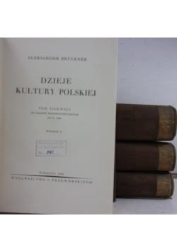 Dzieje kultury polskiej, Tom I-IV, 1939r.