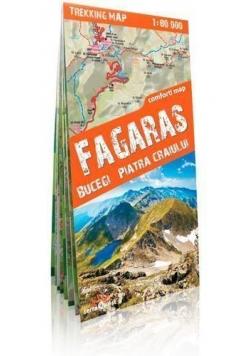 Trekking map Fagaras, Bucegi, Piatra Craiului mapa