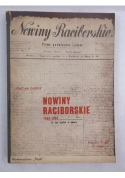 Nowiny raciborskie 1889-1904