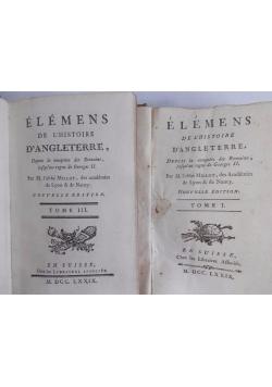 Elemens, Tom I i III. 1779r.