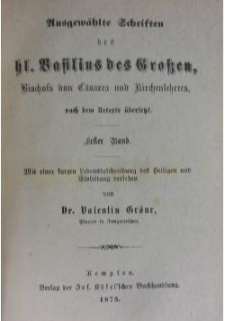 Ausgewählte Schriften, Eltern Band, 1875