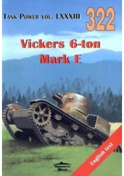 Vickers 6-ton Mark E. Tank Power vol. LXXXIII 322