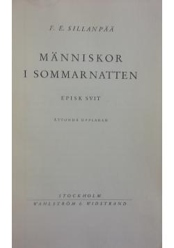 Manniskor i Sommarnatten, 1938r.
