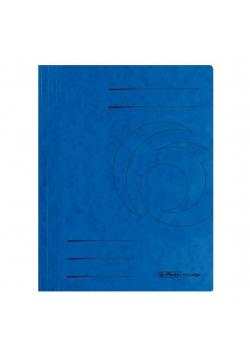 Skoroszyt A4 kartonowy ze sprężynką niebieski