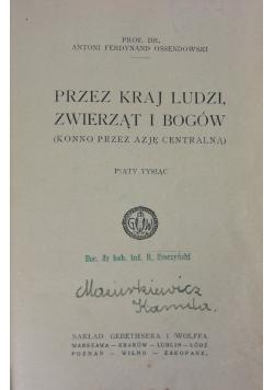 Przez kraj ludzi, zwierząt i Bogów, 1923 r.