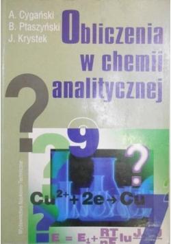Obliczenia w chemii analitycznej