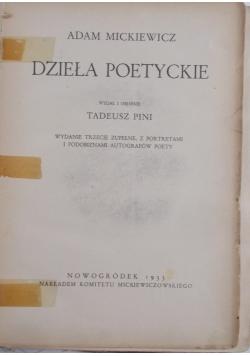 Dzieła poetyckie , 1933 r.