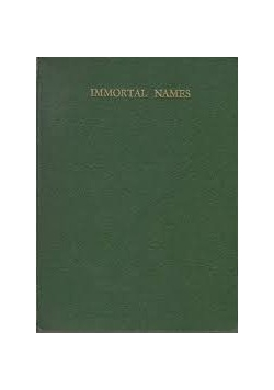 Immortal Names and other poems, 1937r.