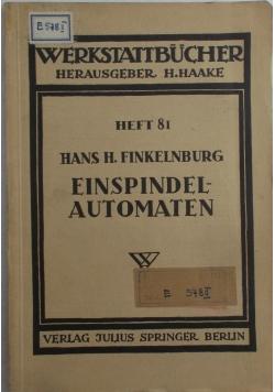 Einspindel automaten, 1940 r.