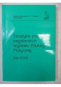 Tematyka prac magisterskich Wydziału Edukacji Muzycznej 1961-2001