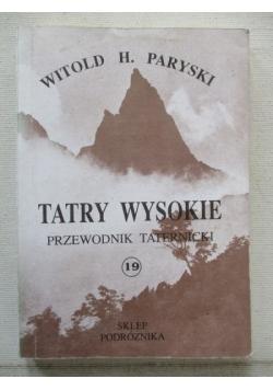 Tatry Wysokie. Przewodnik taternicki, część XIX