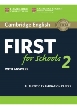 Cambridge English First for Schools 2 Student's Book with answers