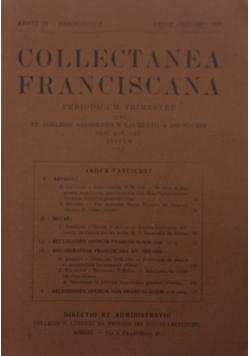 Collectanea Franciscana, 1936r.