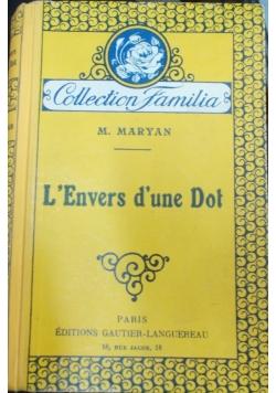 L' Envers d'une Dot, 1929 r.