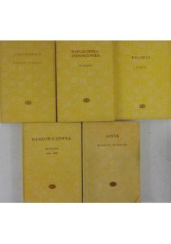 Wiersze/Poezje, zestaw 5 książek