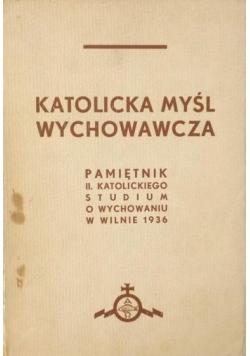 Katolicka myśl wychowawcza, 1937 r.