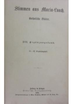 Stimmen aus Maria-Laach, XVII. Band, 1896r.