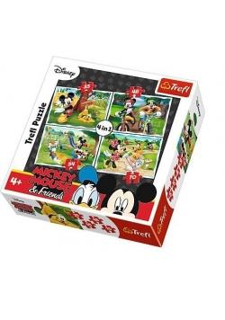 Puzzle 4w1 Zabawy w parku TREFL