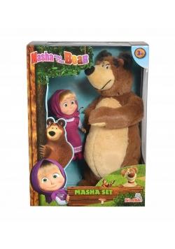 Masza i Niedźwiedź Miś + lalka mały zestaw