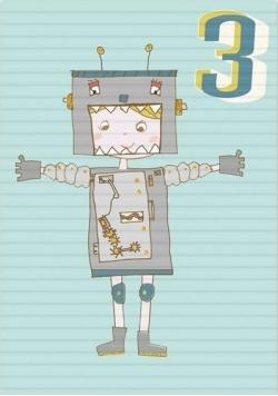 Karnet B6 z kopertą Urodziny 3 chłopiec