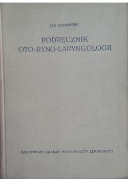 Podręcznik oto-ryno-laryngologii