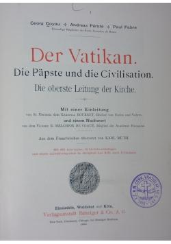 Der Vatikan. Die Papste und die Civilisation, 1898r.
