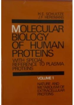 Molecular Biology of Human Proteins volume 1