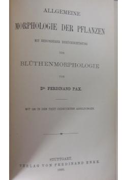 Allgemeine Morphologie der Pflanzen,1890r.