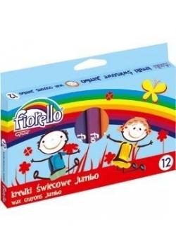 Kredki świecowe Jumbo 12 kolorów FIORELLO