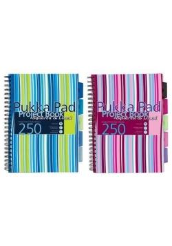 Project Book Stripe A4/125K kr+lin (3szt) PUKKA