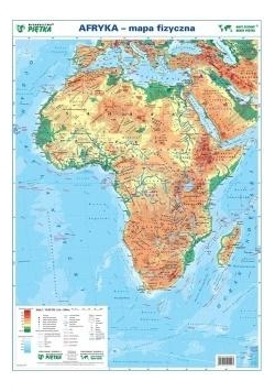 Afryka 1:19 000 000 mapa pol. i fiz. ścienna