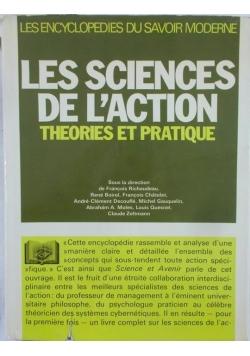 Les Sciences de L'action, Theories et pratique