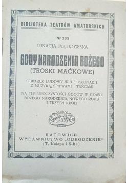 Gody Bożego Narodzenia, 1927 r.
