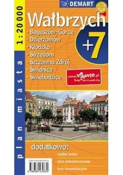 Plan Miasta Wałbrzych plus 7   DEMART