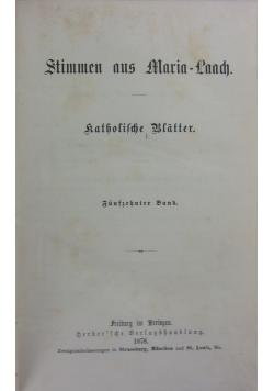 Stimmen aus Maria-Laach, 1878r.