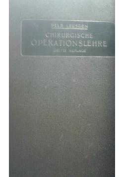 Chirurgische operationslehre, 1921 r.