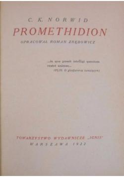 Promethidion, 1922 r.